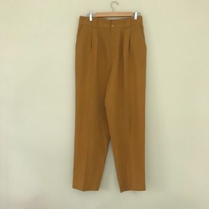 80s Vintage high waist pants 32 mustard yellow